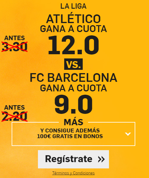 Supercuota Betfair Atlético vs Barcelona