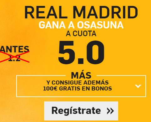 Supercuota Betfair Real Madrid osasuna