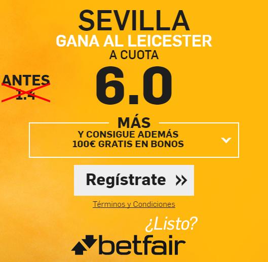 Supercuota Betfair Sevilla