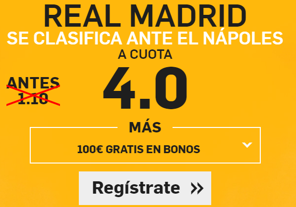 Supercuota Betfair R Madrid