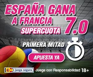 Supercuota-Wanabet-España-gana-a-Francia-primera-mitad