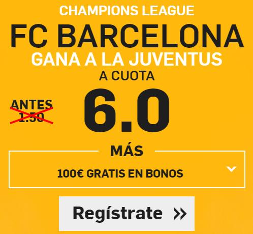 Supercuota Betfair Barcelona gana