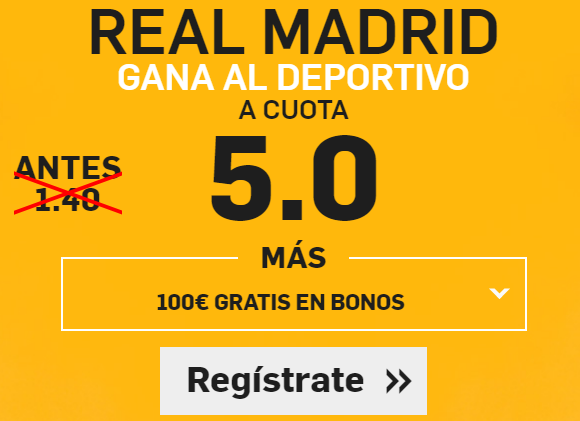 Supercuota Betfair la liga Real Madrid