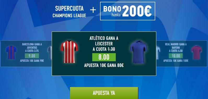 Supercuota Sportium Atlético Leicester