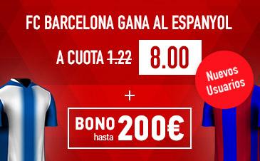 Supercuota Sportium Barcelona gana Espanyol