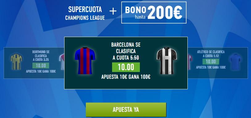 Supercuota Sportium Champions Barcelona