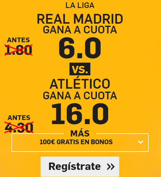 Supercuotas Betfair Real Madrid vs Atletico