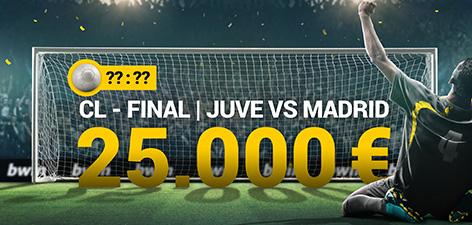 Bwin predictor final Champions League gana 25.000€