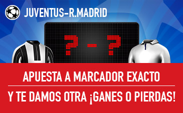 Sportium Champions Juventus - R. Madrid apuesta y te damos otra ganes o pierdas