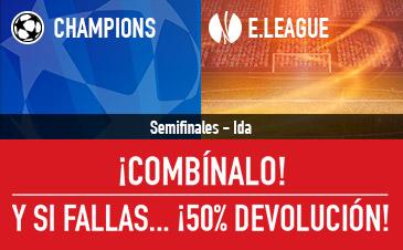 Sportium Combinada Champions Europa League Devolucion