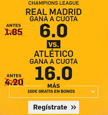 Supercuota Betfair Champions League Real Madrid vs Atlético