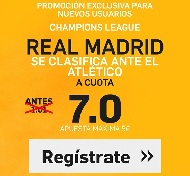 Supercuota Betfair R Madrid Atletico 7