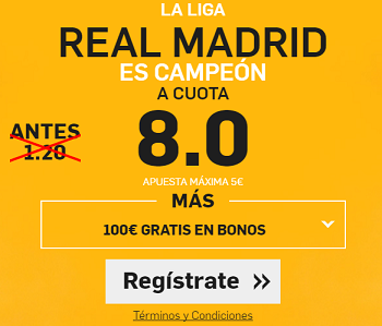 Supercuota – Real Madrid Es Campeón a Cuota 8.0