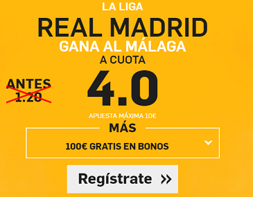 Supercuota Betfair Real Madrid Malaga