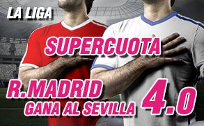 Supercuota Wanabet la Liga Real Madrid Sevilla