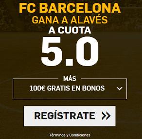 Supercuota Betfair Barcelona Alaves