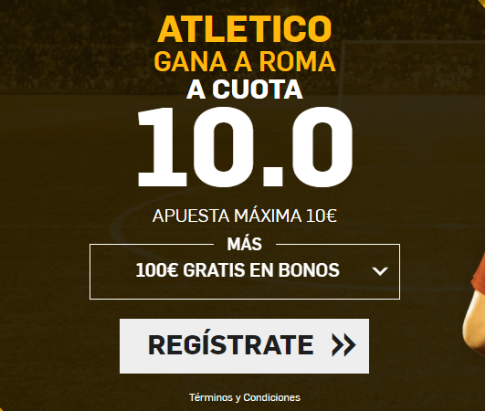 Supercuota Betfair Atlético gana a Roma