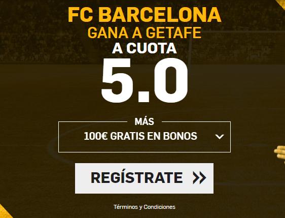 Supercuota Betfair Barcelona gana a Getafe cuota 5.0