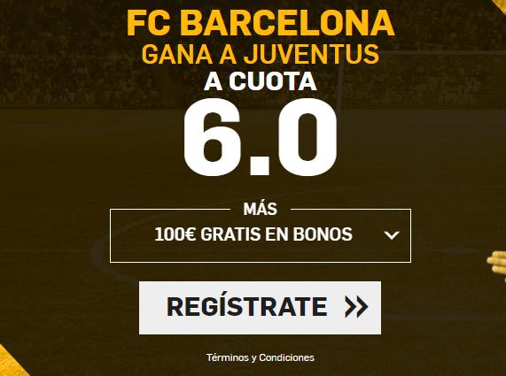 Supercuota Betfair Barcelona gana a juventus 6.0