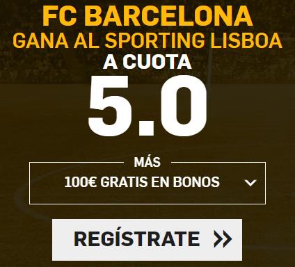 Supercuota Betfair - FC Barcelona gana al Sporting a cuota 5.0