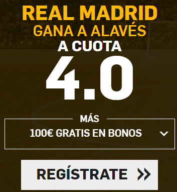 Supercuota Betfair - Real Madrid gana a Alavés