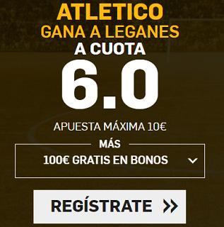 Supercuota Betfair la Liga - Atlético gana a Leganes cuota 6.0