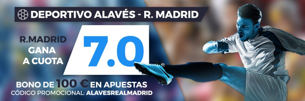 Supercuota Paston la Liga Real Madrid Gana Alavés a cuota 7.0