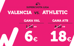 Supercuota Wanabet la Liga - Valencia vs Athletic
