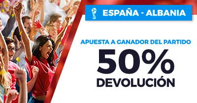 Paston España - Albania 50% devolución