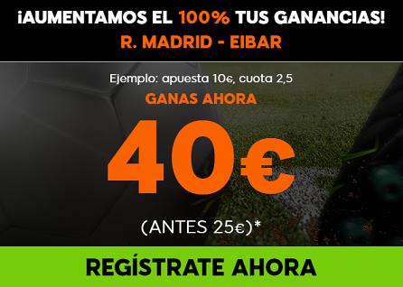 Supercuota 888sport la liga R. Madrid Eibar