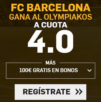 Supercuota Betfair Champions - Barcelona gana Olympiakos