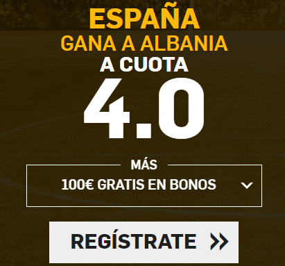 Supercuota Betfair Mundial Futbol - España vs Albania