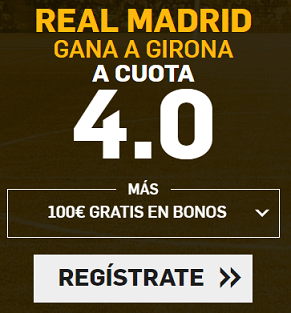 Supercuota Betfair la liga - Real Madrid vs Girona