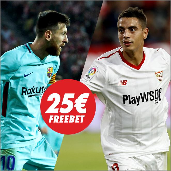 Circus Barcelona Sevilla freebet 25€