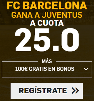 Supercuota Betfair Champions League Barcelona gana a Juventus