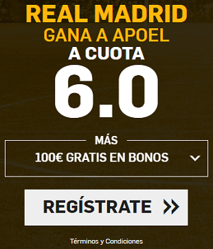 Supercuota Betfair Champions League Real Madrid Apoel
