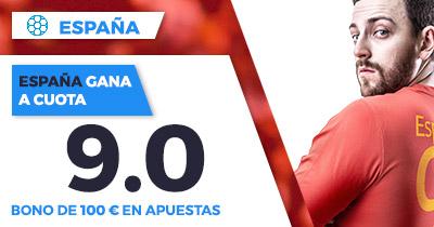 Supercuota Paston España gana a Rusia a cuota 9.0