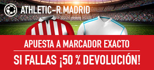 Sportium la Liga Athletic - Real Madrid 50% devolución