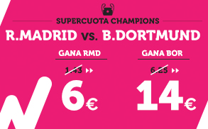Supercuota Wanabet R. Madrid vs B. Dortmund