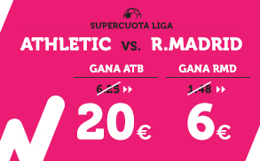 Supercuota Wanabet la Liga Athletic - R. Madrid