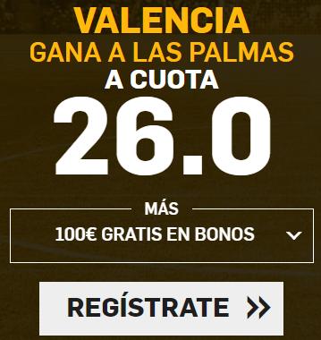 Supercuota Betfair la Liga Valencia - Las Palmas