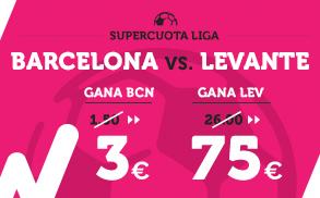 Supercuota Wanabet la Liga Barcelona - Levante