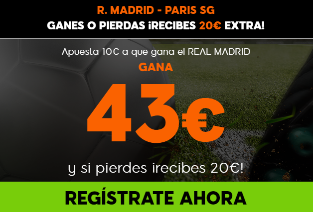 Supercuota 888sport Real Madrid - PSG