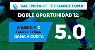 Supercuota Paston Valencia CF - FC Barcelona Cuota 5.0