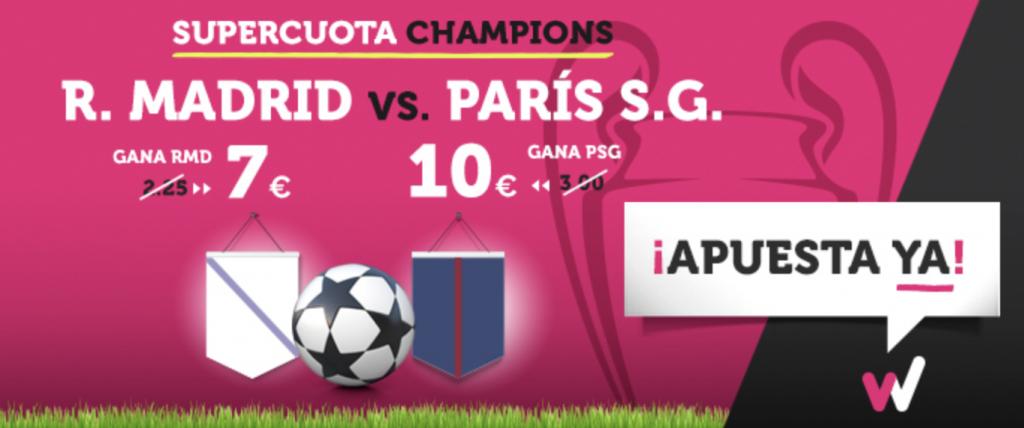 Supercuota Wanabet Champions R. Madrid - PSG