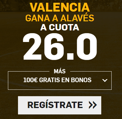 Bonos de apuestas Supercuota Betfair la Liga Valencia - Alavés