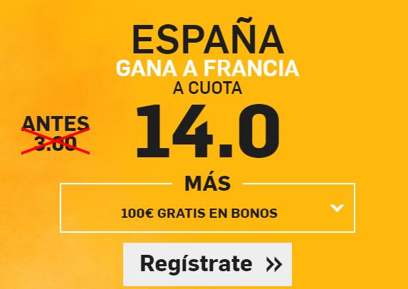 Supercuota Betfair España gana a Francia