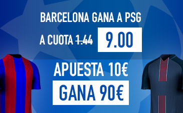 Supercuota Sportium Barcelona PSG Champions