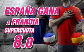 Supercuota Wanabet España gana a Francia cuota 8