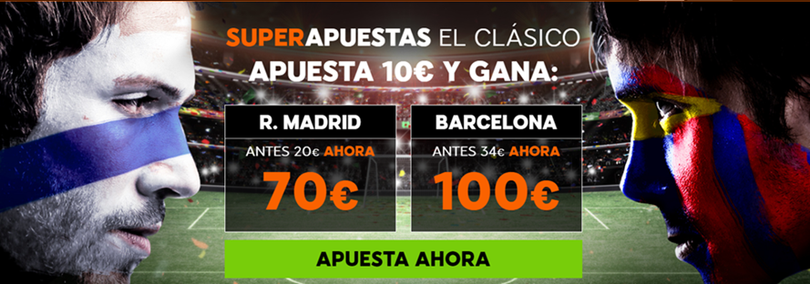 Supercuota 888sport Clasico RMadrid Barcelona